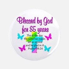 "85th LOVE GOD 3.5"" Button"