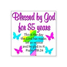 "85th LOVE GOD Square Sticker 3"" x 3"""