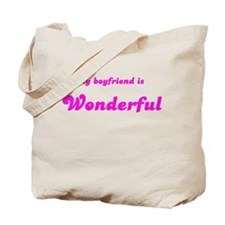 MY BOYFRIEND IS WONDERFUL Tote Bag