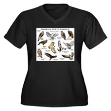 Hawks of Nor Women's Plus Size V-Neck Dark T-Shirt
