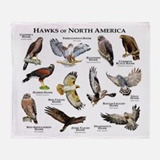 Hawks of North America Throw Blanket