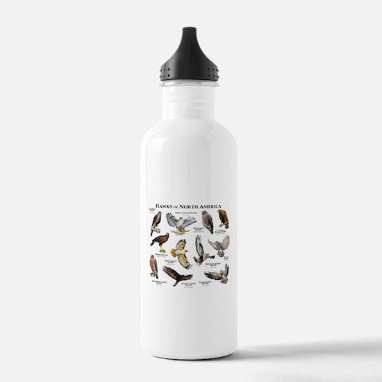 Hawks of North America Water Bottle