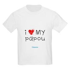 Kids I Love My Papou T-Shirt