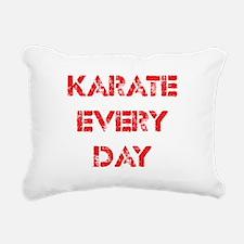 Karate Every Day Rectangular Canvas Pillow