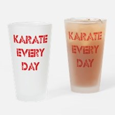 Karate Every Day Drinking Glass