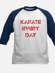Karate Every Day Kids Baseball Jersey
