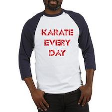 Karate Every Day Baseball Jersey