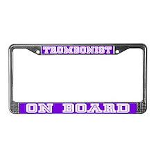 Trombonist License Plate Frame