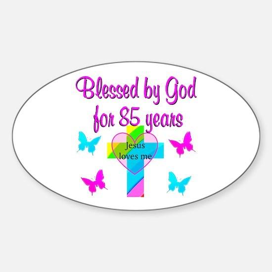 85TH CHRISTIAN Sticker (Oval)