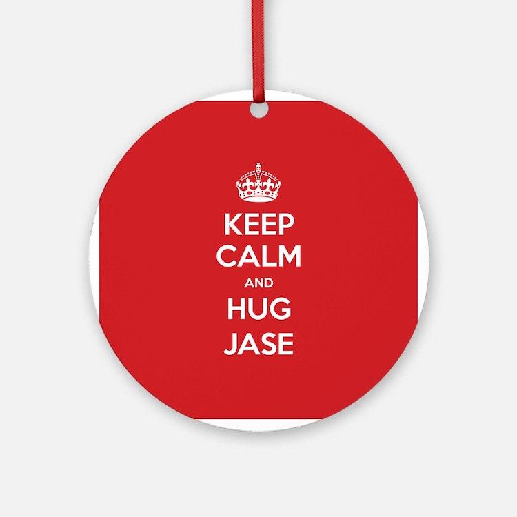Hug Jase Ornament (Round)
