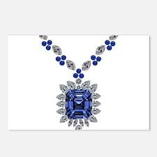 Large Sapphire Pendant Necklace Postcards (Package