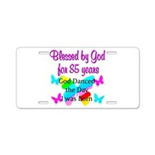 85TH BUTTERFLY Aluminum License Plate