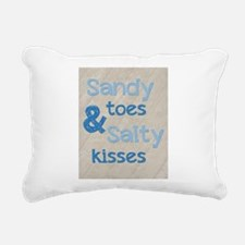 Sandy Toes Salty Kisses Rectangular Canvas Pillow
