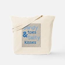 Sandy Toes Salty Kisses Tote Bag