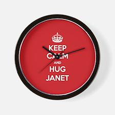Hug Janet Wall Clock