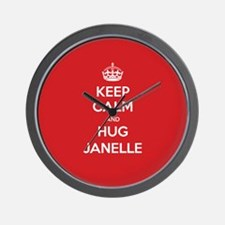 Hug Janelle Wall Clock