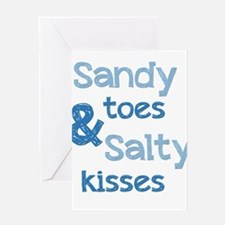 Sandy Toes Salty Kisses Greeting Cards