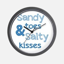 Sandy Toes Salty Kisses Wall Clock