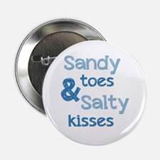 """Sandy Toes Salty Kisses 2.25"""" Button (100 pack)"""