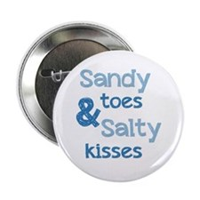 """Sandy Toes Salty Kisses 2.25"""" Button (10 pack)"""