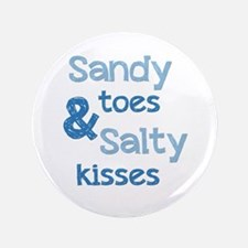 """Sandy Toes Salty Kisses 3.5"""" Button (100 pack)"""