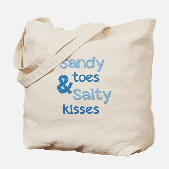 Sandy Toes Salty Kisses Tote Bag