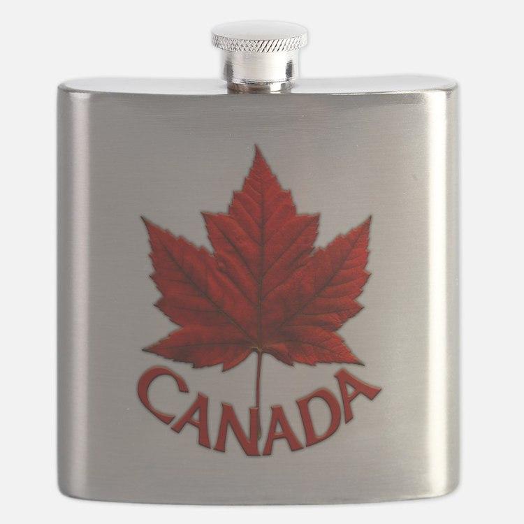 Canada Maple Leaf Souvenir Flask