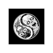 White and Black Yin Yang Zombies Sticker
