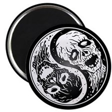 White and Black Yin Yang Zombies Magnets