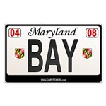 Maryland License Plate Sticker - BAY