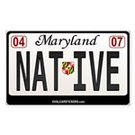 Maryland License Plate Sticker - NATIVE