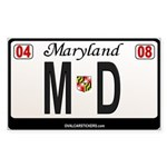 Maryland License Plate Sticker - MD