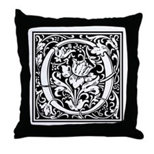 Decorative Letter O Throw Pillow