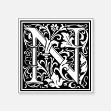Decorative Letter N Sticker