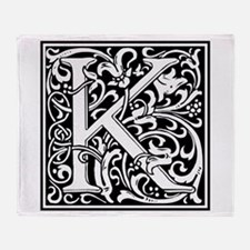 Decorative Letter K Throw Blanket