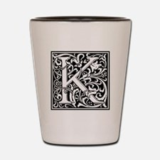 Decorative Letter K Shot Glass