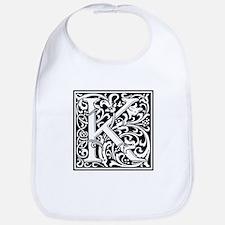 Decorative Letter K Bib