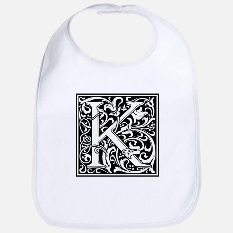 Decorative Letter K Bib