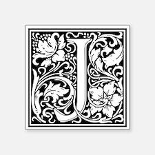 Decorative Letter J Sticker