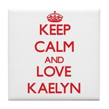 Keep Calm and Love Kaelyn Tile Coaster