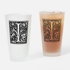 Decorative Letter I Drinking Glass