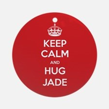 Hug Jade Ornament (Round)