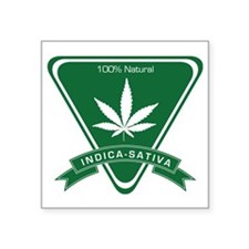 "Indica Sativa Square Sticker 3"" x 3"""