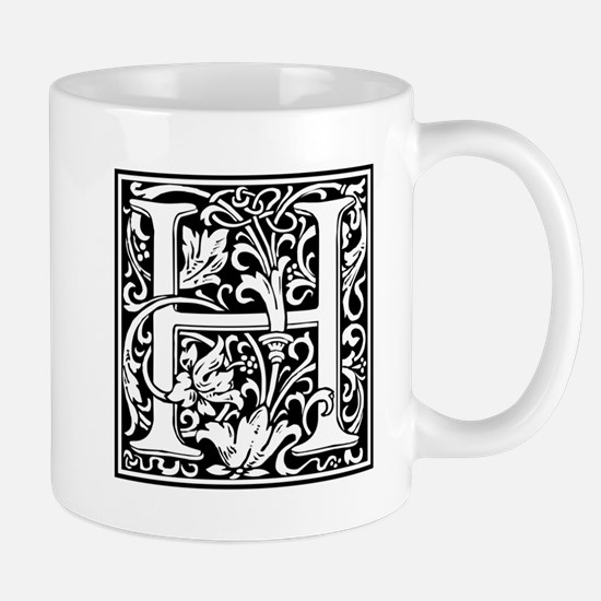 Decorative Letter H Mugs