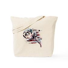 Grunge Captain America Tote Bag