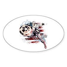 Grunge Captain America Decal