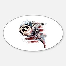 Grunge Captain America Decal