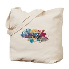 Captain America Paint Tote Bag