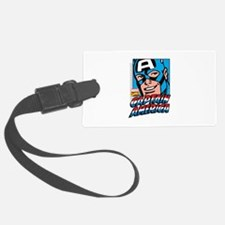 Captain America Smiling Luggage Tag