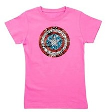 Captain America Shield Collage Girl's Tee